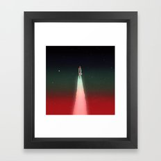 Space Launch Framed Art Print