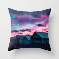 Infrared Sunset Throw Pillow