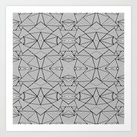 Abstract Mirror Black On… Art Print