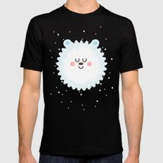 Sleeping Polar Bear SMALL Mens Fitted Tee Black