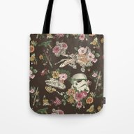 Tote Bag featuring Botanic Wars by Josh Ln
