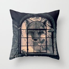 Throw Pillow - FOX AND BIRDS - dada22