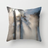 Sun And Palm Trees Throw Pillow