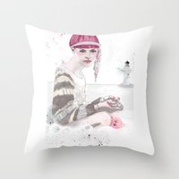 H is For Home Throw Pillow