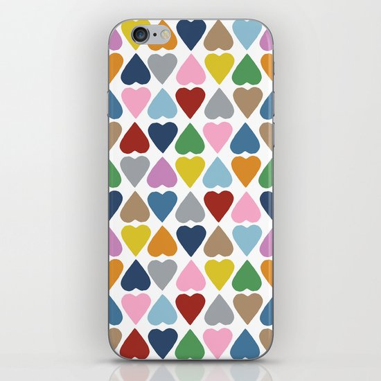 Diamond Hearts Repeat iPhone & iPod Skin