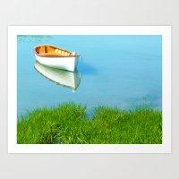 Serene Boat Scene#4 Art Print