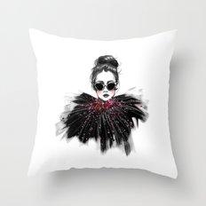 Lua // Fashion Illustration Throw Pillow