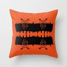 Orange AbstractArtwork Throw Pillow
