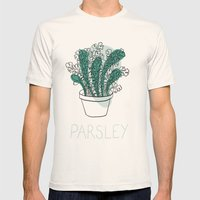 Parsley Mens Fitted Tee Natural SMALL