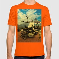 Hunter S Mens Fitted Tee Orange SMALL