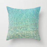Colors Of The Sea Water … Throw Pillow