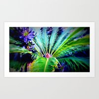 Tropical Plants And Flow… Art Print