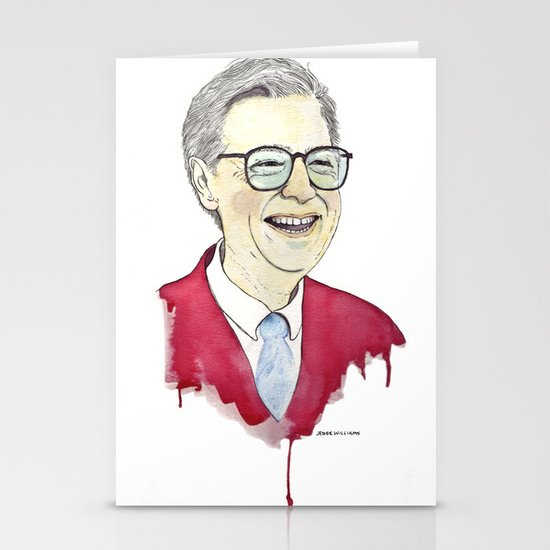 MR. Rogers Stationery Card