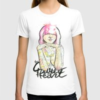 sweet heart Womens Fitted Tee White SMALL