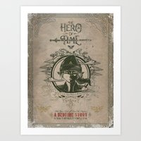 Legend of Zelda Link the Hero of Time Vintage Book Cover Art Print