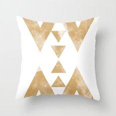 MOON MUSTARD Throw Pillow