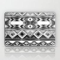 Southwest Pattern- Black & White Laptop & iPad Skin