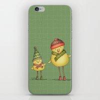 Two Chicks - green iPhone & iPod Skin