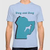 Dog eat Dog Mens Fitted Tee Athletic Blue SMALL