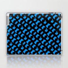 Gamer - Aqua on Black Laptop & iPad Skin