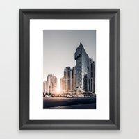 Dubai Sky Framed Art Print