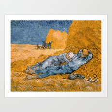 Noon - Rest From Work By… Art Print