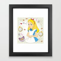I {❤} Alice In Her Wonderland Framed Art Print