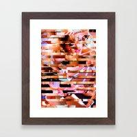 Dinner Party Glitch 1 Framed Art Print