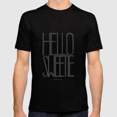 Hello Sweetie - by Genu WORDISIAC™ TYPOGY™ SMALL Mens Fitted Tee Black