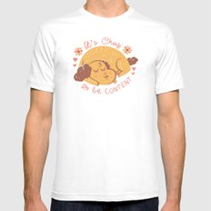 Dog Wisdom SMALL White Mens Fitted Tee