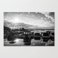 Sunrise At The Pier , Ca… Canvas Print