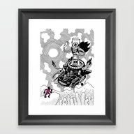 So We Meet Again! Framed Art Print