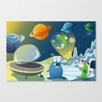 Departure For Earth - Sp… Canvas Print