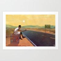 The Free Agent Landscape Art Print