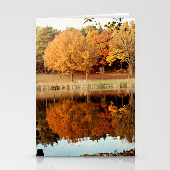 Fall Reflections Stationery Card