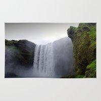 skogafoss waterfall, iceland. Rug