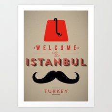 Vintage Welcome to Istanbul Poster Art Print