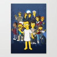 Simpsonized Things Canvas Print
