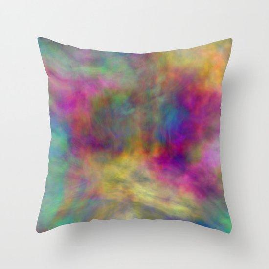 rainbow clouds Throw Pillow
