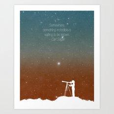 Through the Telescope Art Print