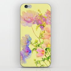 soft pastel floral iPhone & iPod Skin