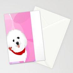 coton de tulear dog art Stationery Cards