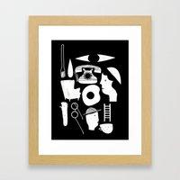 STUFF Framed Art Print