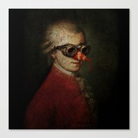 Surreal Steampunk Mozart Canvas Print