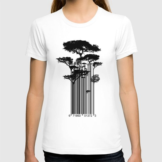 Barcode Trees illustration  T-shirt