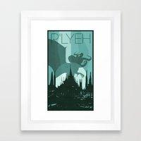 Every City Has Its Creature -R'lyeh Framed Art Print