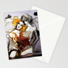 Letter 3: equally centered Stationery Cards