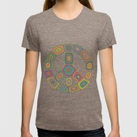 Peace is Groovy Womens Fitted Tee Tri-Coffee SMALL