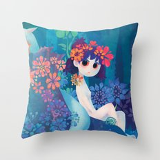 Boy and girl Throw Pillow