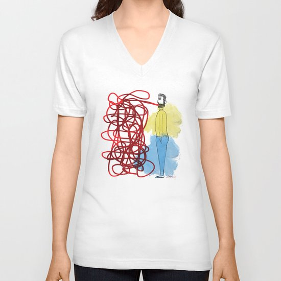 Something hard to say V-neck T-shirt